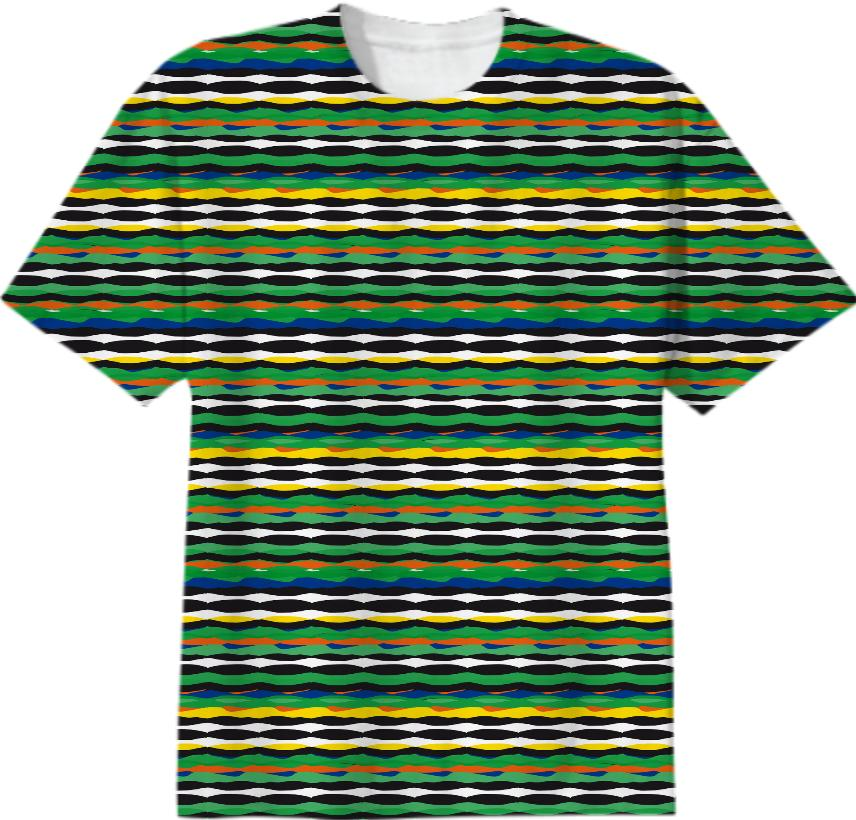 Tropical Stripes T shirt