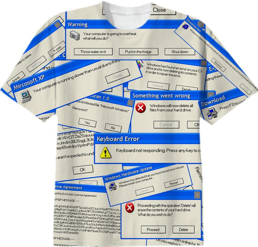 Windows Error Box Shirt