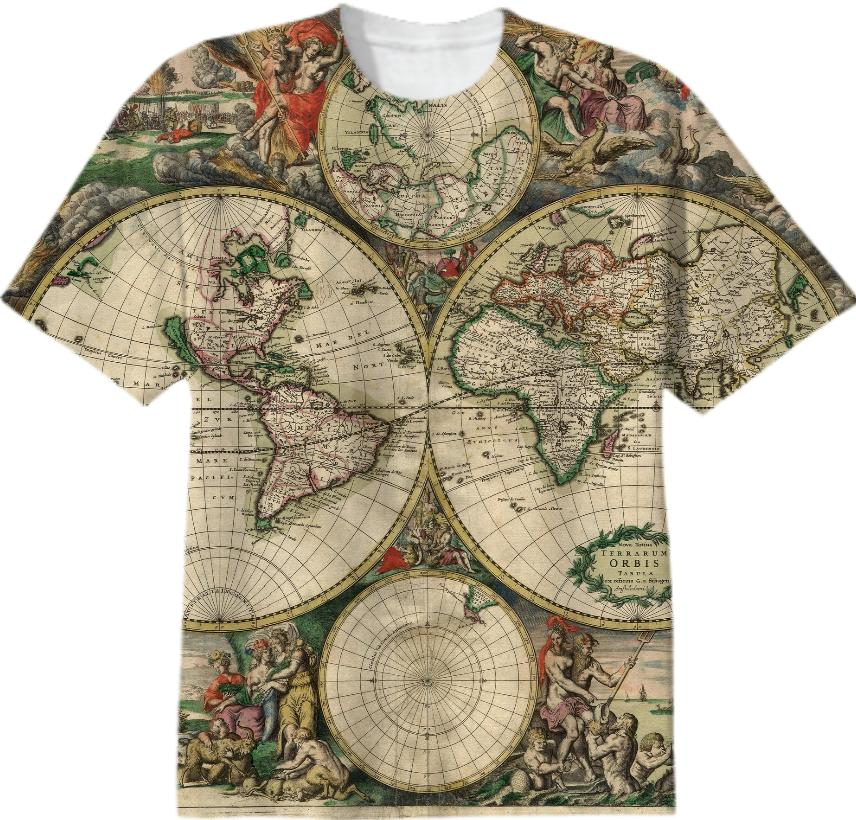 World Map 1689 Amsterdam