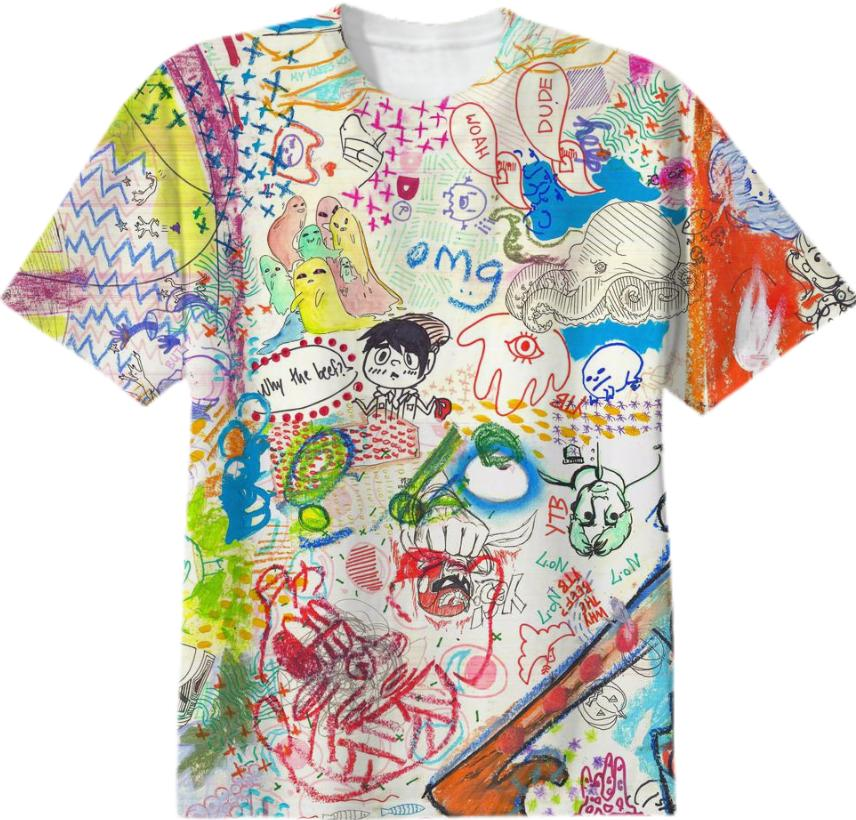 YTB 7 PATTERN x Print All Over Me T Shirt
