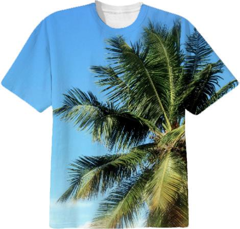 tropical palm tshirt