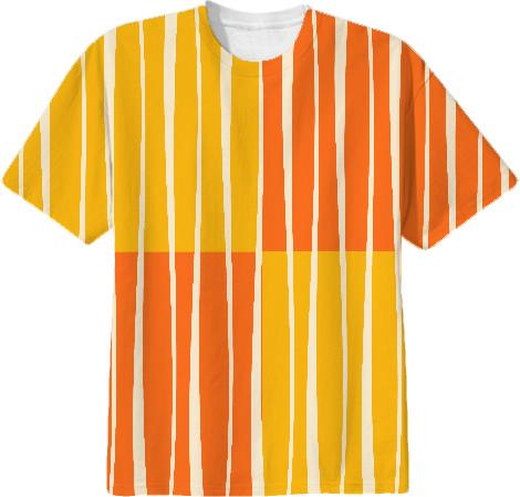 Cream striped sunshine T SHIRT