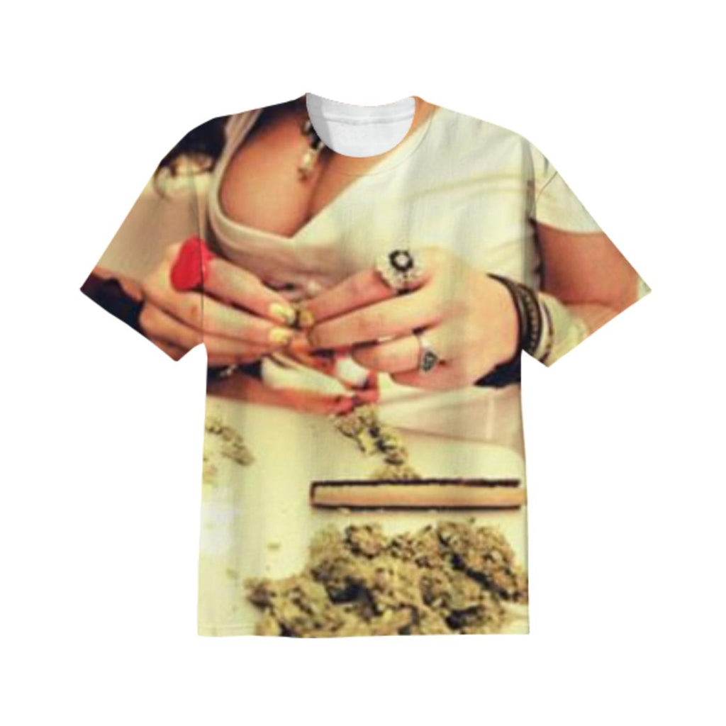 Bad Bitch Rolling Weed T SHIRT