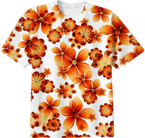 Burnt Flowers TSHIRT by Valxart