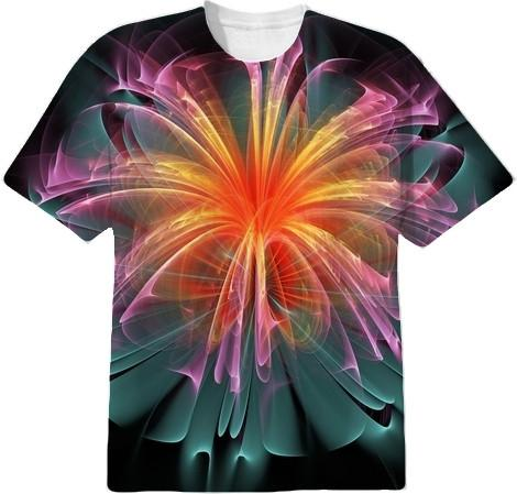 Fiber Optic Flower Tee