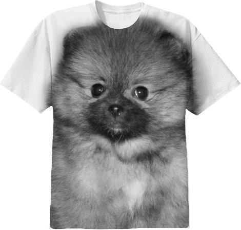 Pomeranian puppy dog shirt