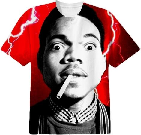 Red Chance The Rapper Crew Neck