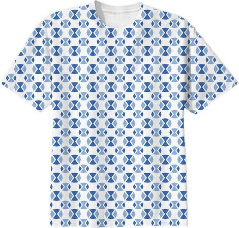 Retro style repeat pattern in 2014 blues t shirts