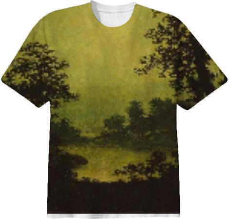 sunset tinted verdana painting shirt