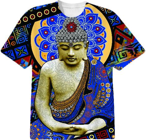 Urban Buddha Colorful Buddhist T Shirt Rhythm of My Mind