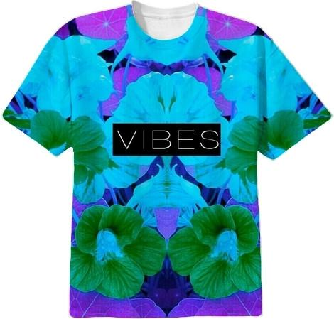 Vibes Light Blue and Indigo Purple Crew
