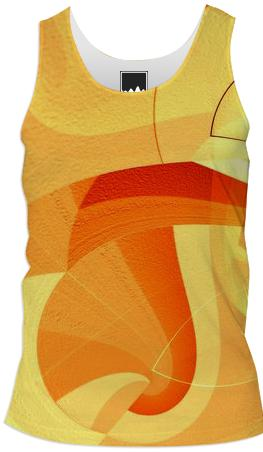 Abstract orange 1 by Tutti