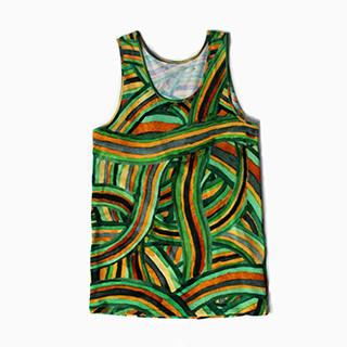 PAOM, Print All Over Me, digital print, design, fashion, style, collaboration, degen, Tank Top Men, Tank-Top-Men, TankTopMen, All, Over, Rainbow, Thread, spring summer, mens, Poly, Tops