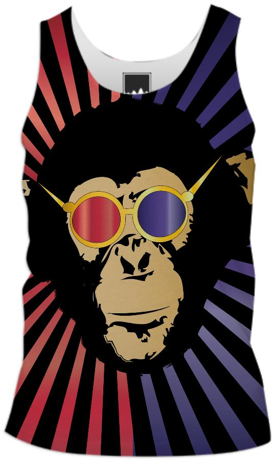 Funk Monkey with 3d glasses