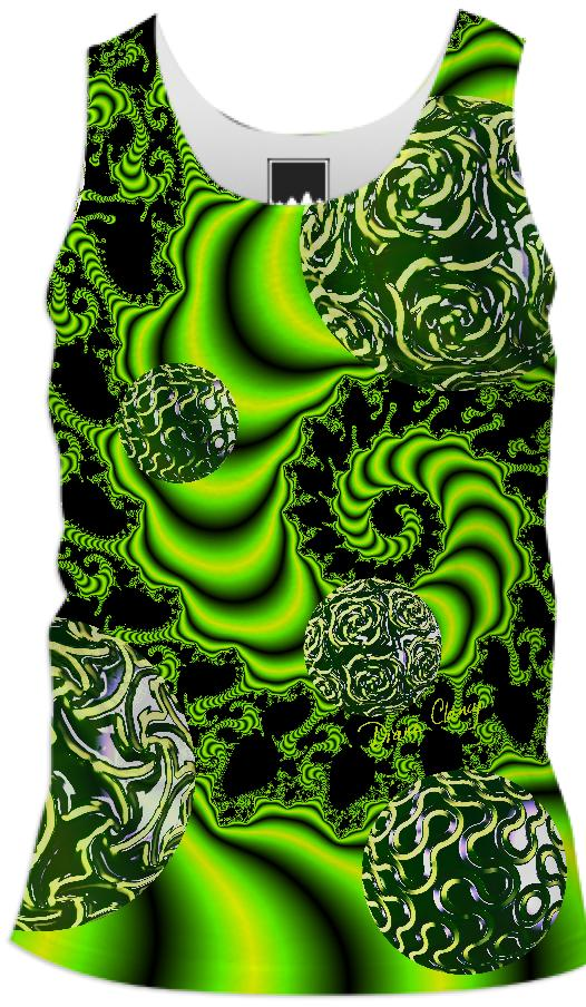 Irish Whirl Abstract Fractal Emerald Dance