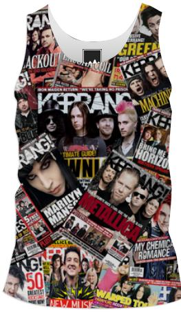 Kerrang Covers Guys Tank Top