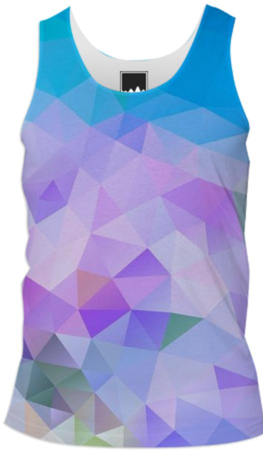 POLYGON TRIANGLES PATTERN BLUE VIOLET ABSTRACT POLYART GEOMETRIC FLOWERS