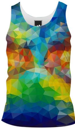 POLYGON TRIANGLES PATTERN MULTI COLOR COLORFUL RAINBOW ABSTRACT POLYART GEOMETRIC