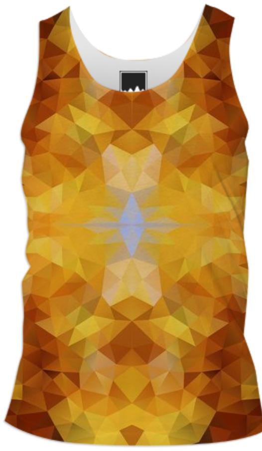 POLYGON TRIANGLES PATTERN YELLOW BROWN LEAF AUTUMN ABSTRACT POLYART GEOMETRIC