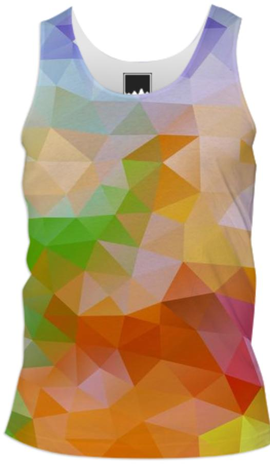 POLYGON TRIANGLES PATTERN YELLOW RED ORANGE VIOLET ABSTRACT POLYART GEOMETRIC CANDY COLORS COLORFUL RAINBOW