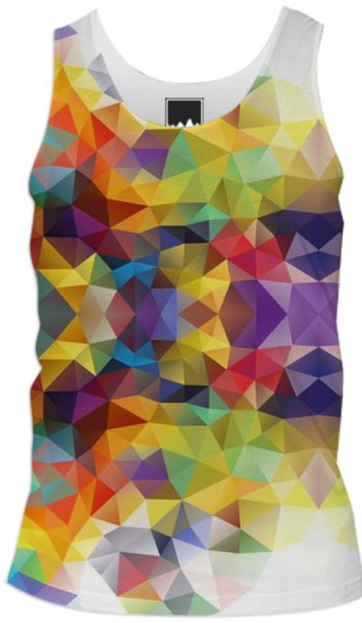POLYGON TRIANGLES PATTERN YELLOW RED ORANGE VIOLET ABSTRACT POLYART GEOMETRIC CANDY COLORS COLORFUL RAINBOW VIOLET BLUE MULTI COLOR