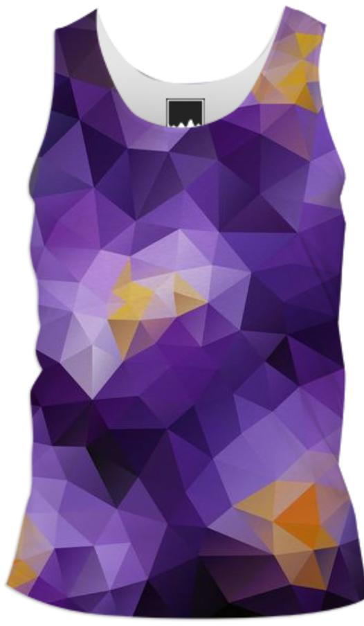 POLYGON TRIANGLES PATTERN YELLOW VIOLET ABSTRACT POLYART GEOMETRIC PURPLE