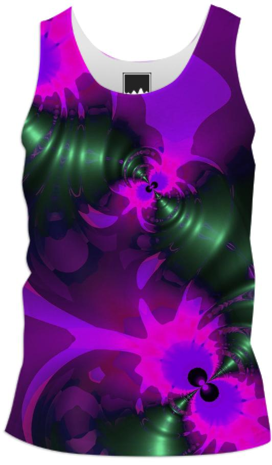 Purple Imp Abstract Fractal Violet and Magenta Ribbons