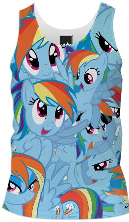 Rainbow Dash Male Tank Top