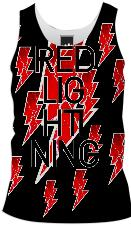 Red Lightning Tank top