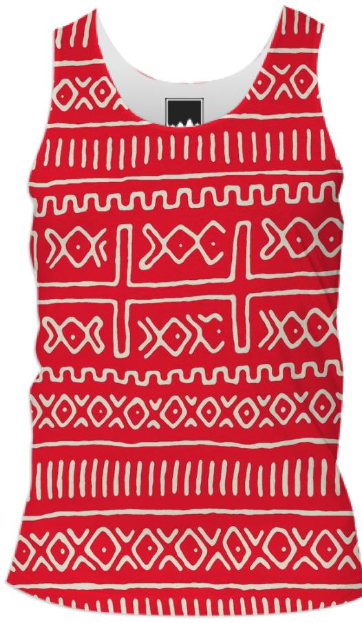 Red Mud Cloth Pattern