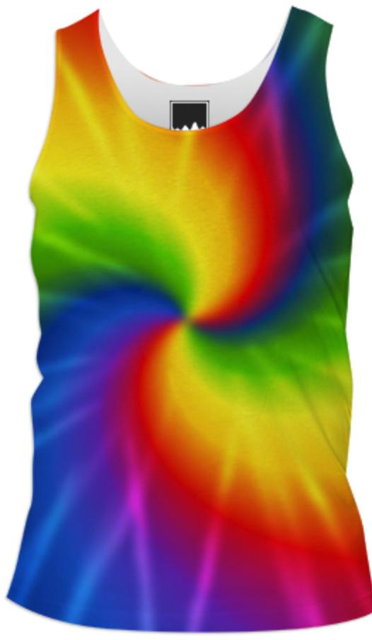 Retro Tie Dye Men s tank