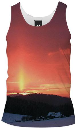Snowy Sunset Tank Top