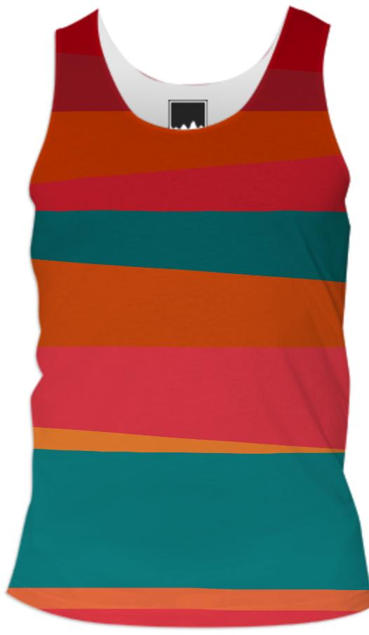 Sun Stripes Men s Tank Top