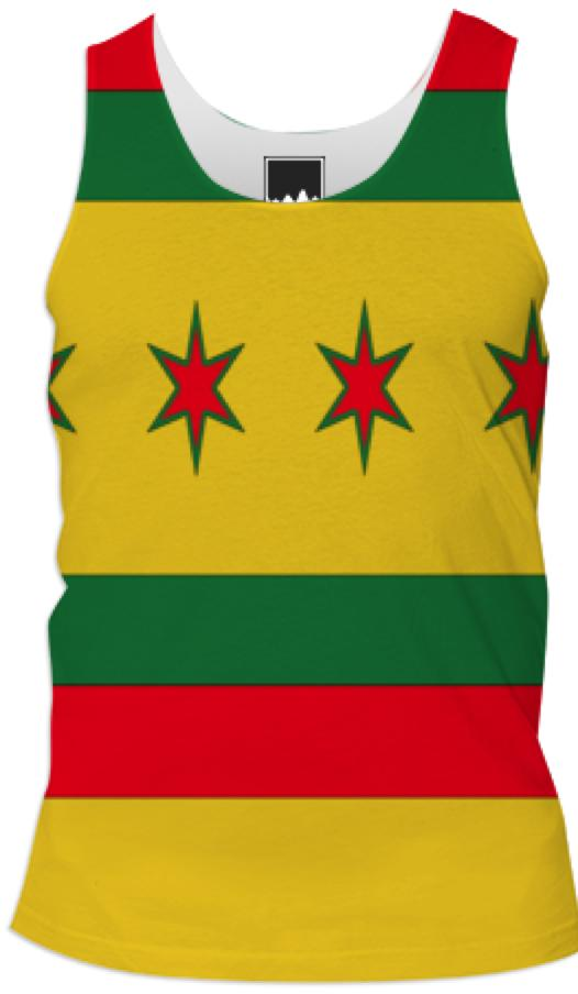 Chicago Rasta Colors Flag Tank Top