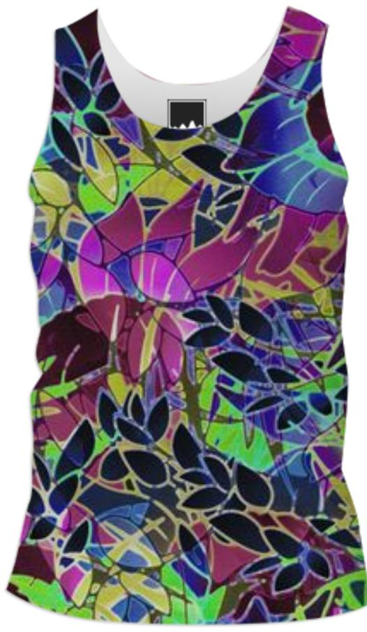 TANK TOP MEN Floral Abstract Artwork G19