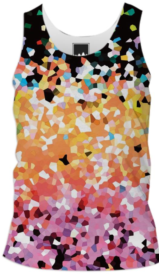 TANK TOP MEN Mosaic Sparkley Texture G22B