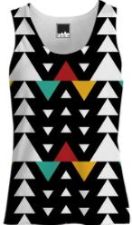 African Triangle Love Women s Tank