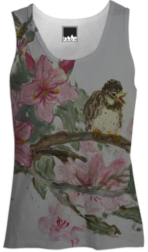 Bird on Blossom Tank Top