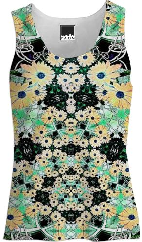 Daisy Flowers Fractal Tank Top