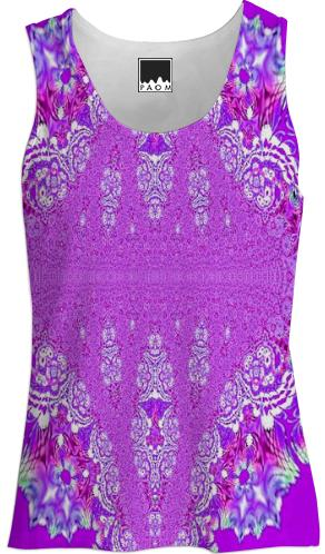 Perfect Purple Lace Tank Top
