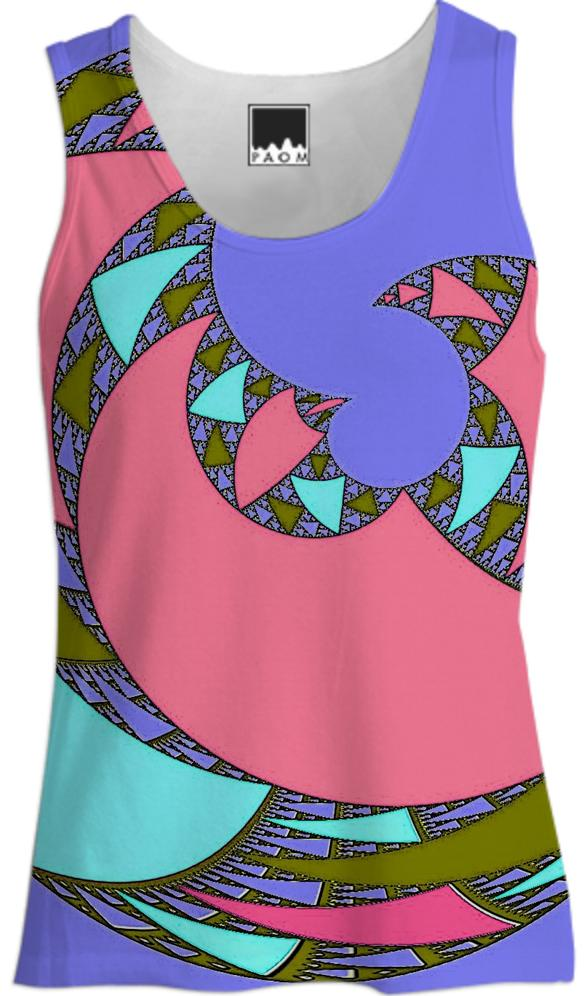 Pink Purple Abstract Tank Top