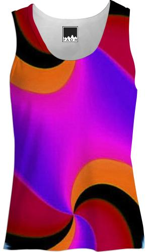 Red Pink Orange Fractal Tank Top
