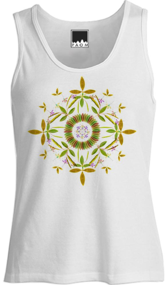 Summer Garden Mandala Tank Top