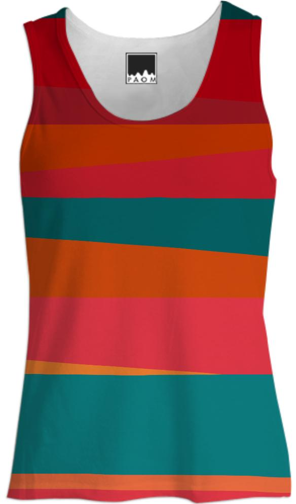 Sun Stripes Women s Tank Top