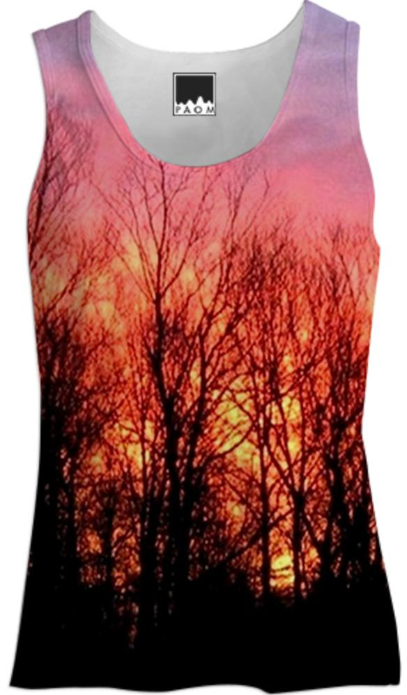 Sunrise through the Trees Tank Top