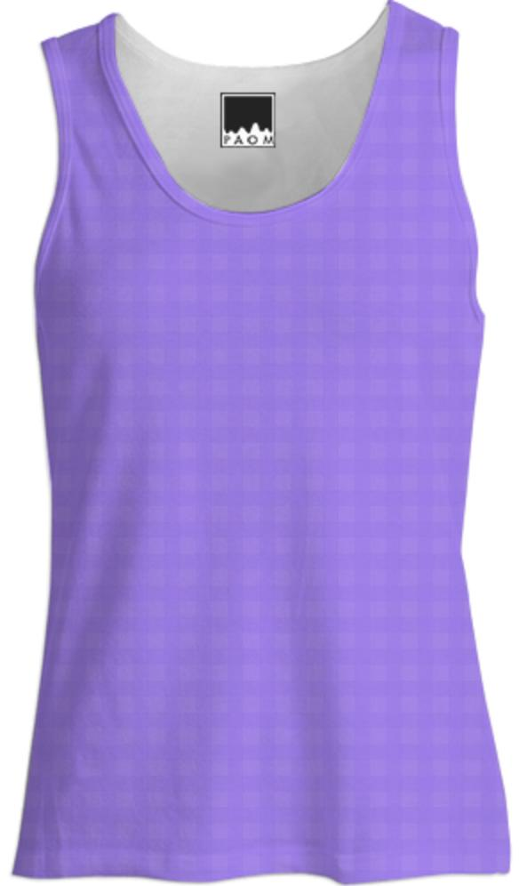 Tone on Tone Purple Checked Tank Top