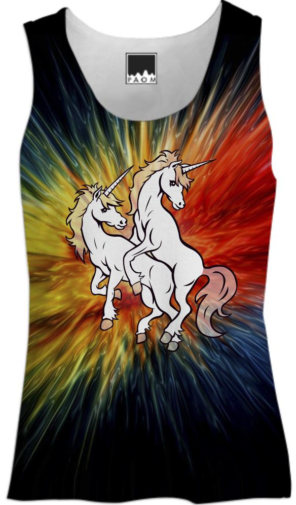 Unified Unicorn Plasma Sunburst Women s Tank
