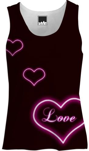 womens love tank top