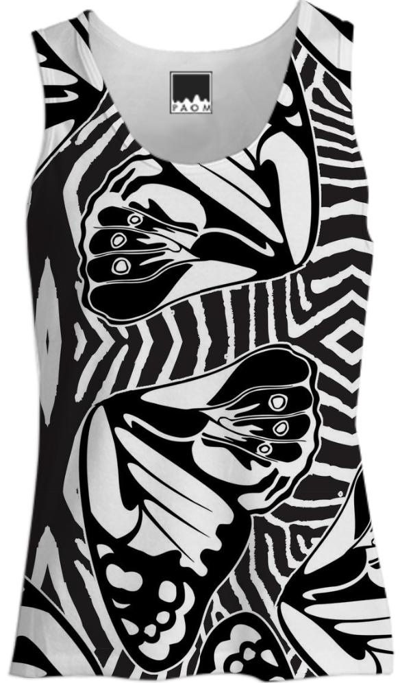 ZEBRA BUTTERFLY TANK TOP WOMEN
