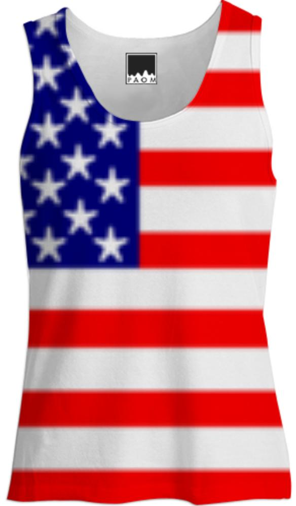 USA Stars and Stripes Ladies Tank Top